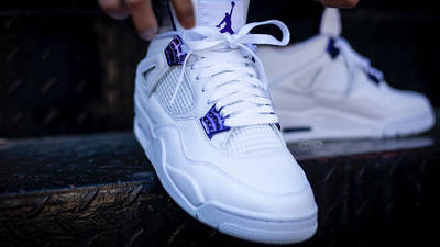 Jordan 4 Court Purple On Foot