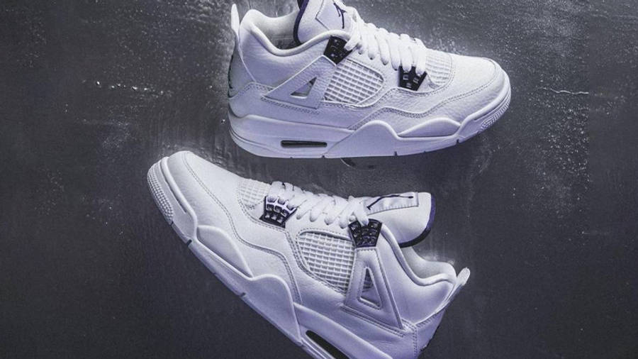 Jordan 4 Court Purple Side-by-side