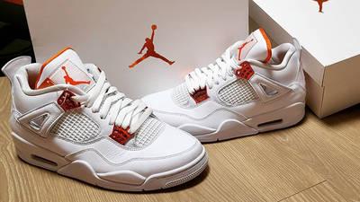 Jordan 4 Metallic Pack Lifestyle Side-by-side