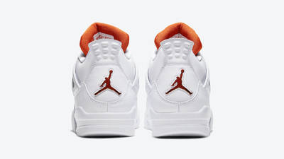 Jordan 4 Metallic Pack White Orange Back