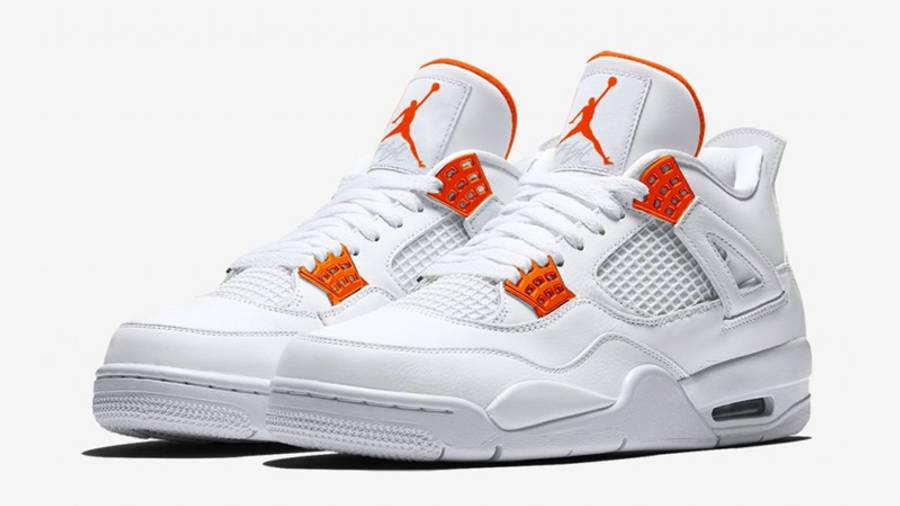 Jordan 4 Metallic Pack White Orange Front