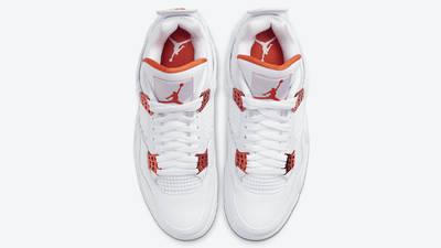 Jordan 4 Metallic Pack White Orange Middle