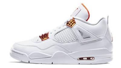 Jordan 4 Metallic Pack White Orange