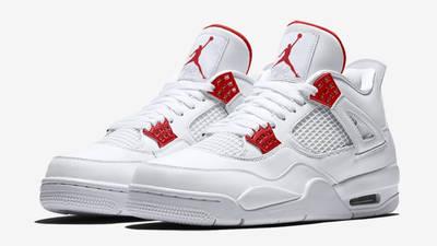 Jordan 4 Metallic Pack White Red Front