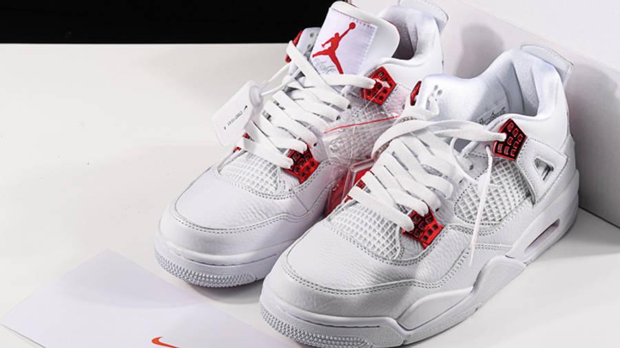 Jordan 4 Metallic Pack White Red Top