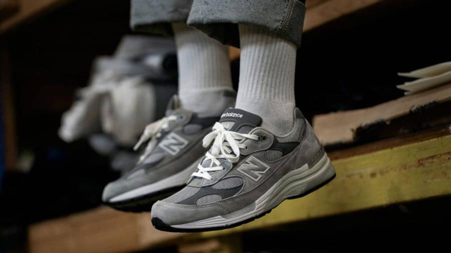 New Balance M992GR Grey On Feet