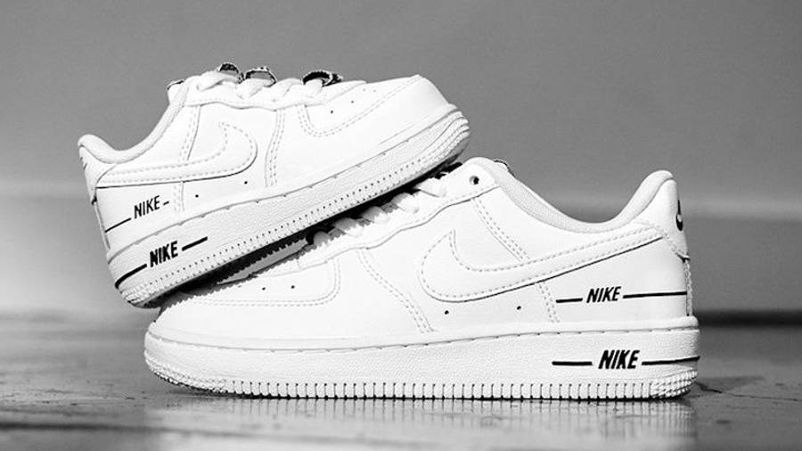 Nike Air Force 1 Low Tape Double Air White   Where To Buy   CJ1379 ...