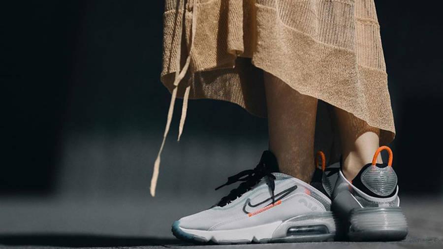 Nike Air Max 2090 White Black On Foot 1