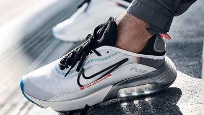 Nike Air Max 2090 White Black On Foot 3