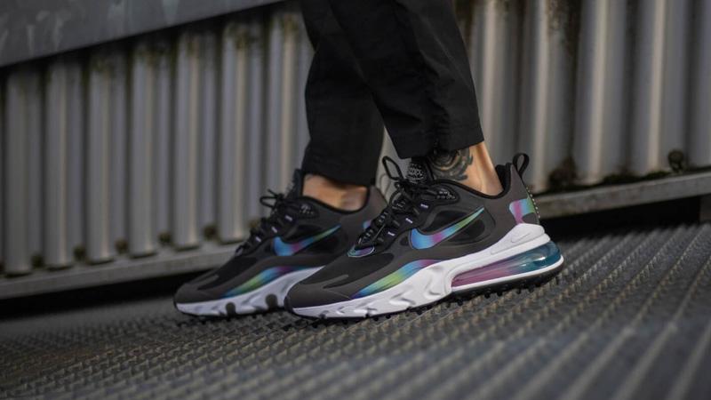 nike air max 270 react black on feet