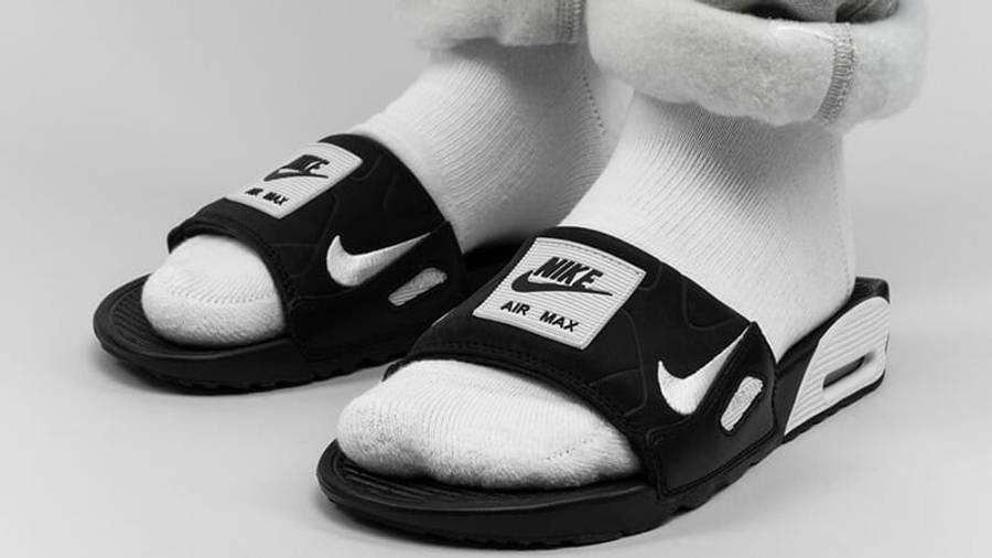 Nike Air Max 90 Slide Black   Where To Buy   BQ4635-002   The Sole ...