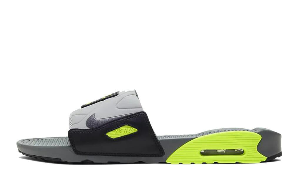 actualizar Será Conveniente  Nike Air Max 90 Slide Grey Volt | Where To Buy | BQ4635-001 | The Sole  Supplier