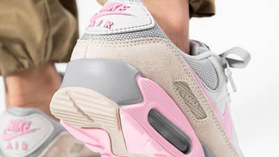 Nike Air Max 90 Vast Grey Pink On Foot Back