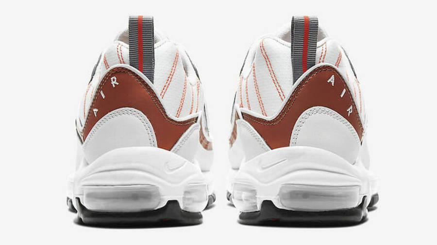 Nike Air Max 98 White Orange Back