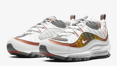 Nike Air Max 98 White Orange Front