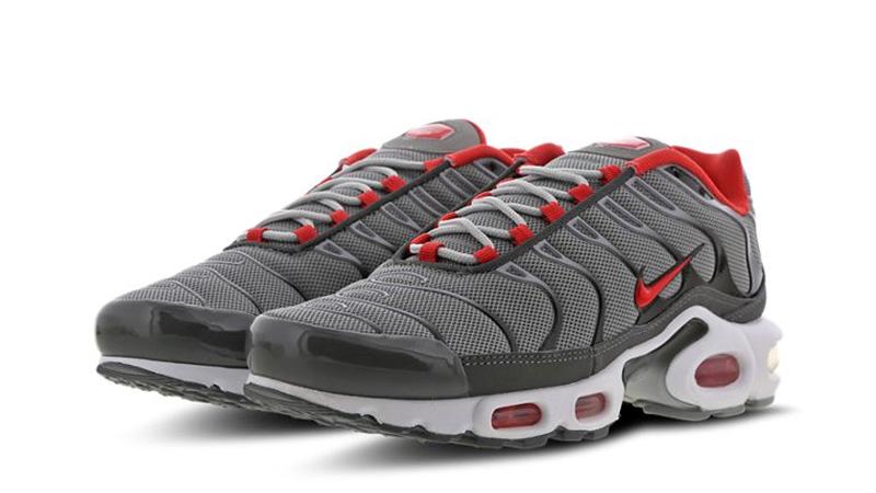 Nike TN Air Max Plus Grey Red   Where
