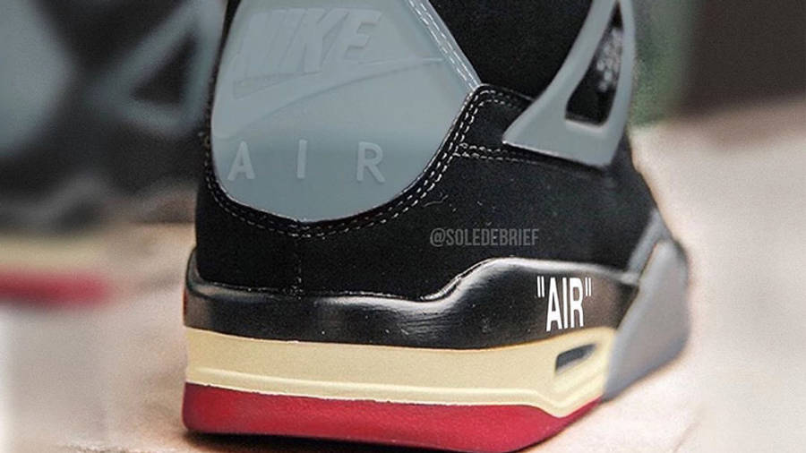 Off-White x Air Jordan 4 Bred Back