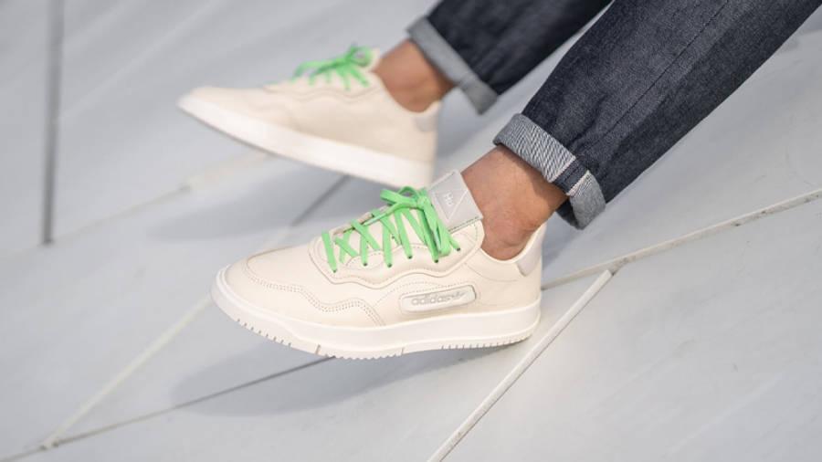 Pharrell Williams x adidas SC Premiere Ecru Tint On Foot Front Side