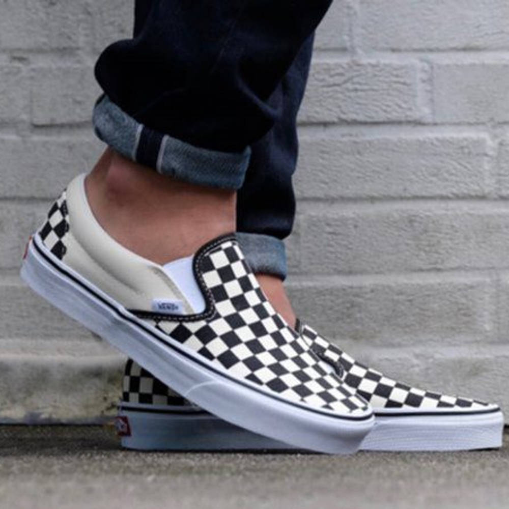 checkered vans fashion
