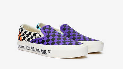 Sneakersnstuff x Vans OG Classic Slip-On LX Electric Purple Vn0a45jk01m front