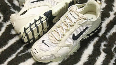 Stussy x Nike Air Zoom Spiridon Cage 2 Fossil Lifestyle2