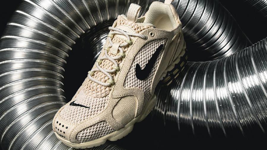 Stussy x Nike Air Zoom Spiridon Cage 2 Fossil Lifestyle