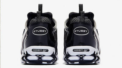 Stussy x Nike Air Zoom Spiridon Caged Black White CU1854-001 back