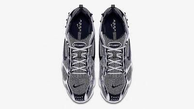 Stussy x Nike Air Zoom Spiridon Caged Black White CU1854-001 middle