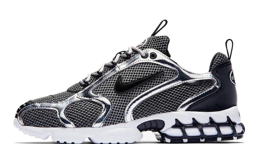 Stussy x Nike Air Zoom Spiridon Caged Black White CU1854-001