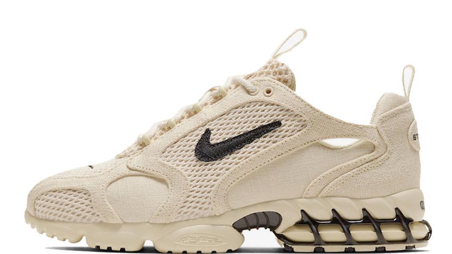 Stussy x Nike Air Zoom Spiridon Caged Fossil CQ5486-200