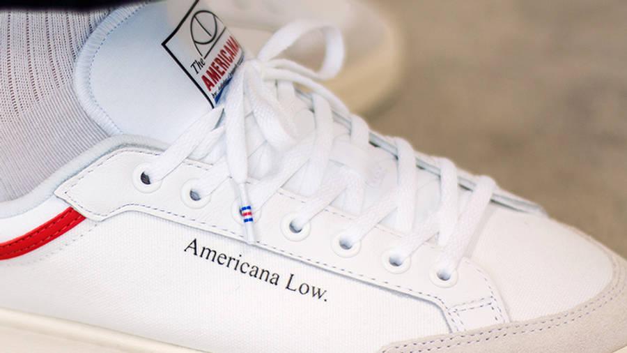 adidas Americana Low White EF6385 closeup