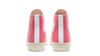 Comme des Garcons Play x Converse Chuck Taylor All Star 70 High Bright Pink back