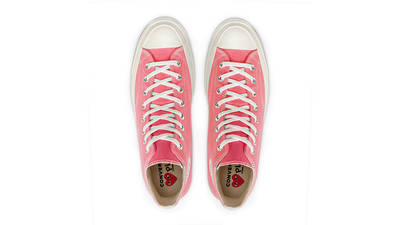 Comme des Garcons Play x Converse Chuck Taylor All Star 70 High Bright Pink middle