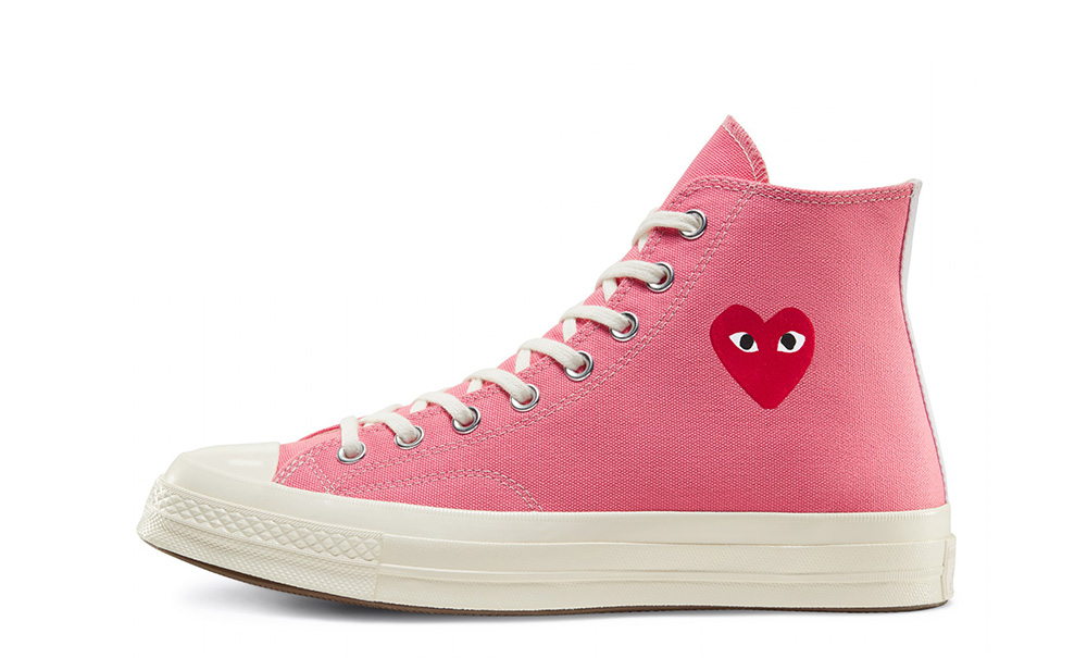 Gracias por tu ayuda Compulsión difícil  Comme des Garcons Play x Converse Chuck Taylor All Star 70 High Bright Pink  - Where To Buy - undefined | The Sole Supplier