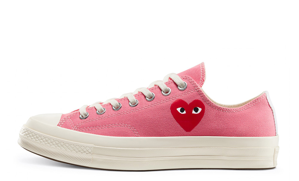 Comme des Garcons Play x Converse Chuck Taylor All Star 70 Low Bright Pink