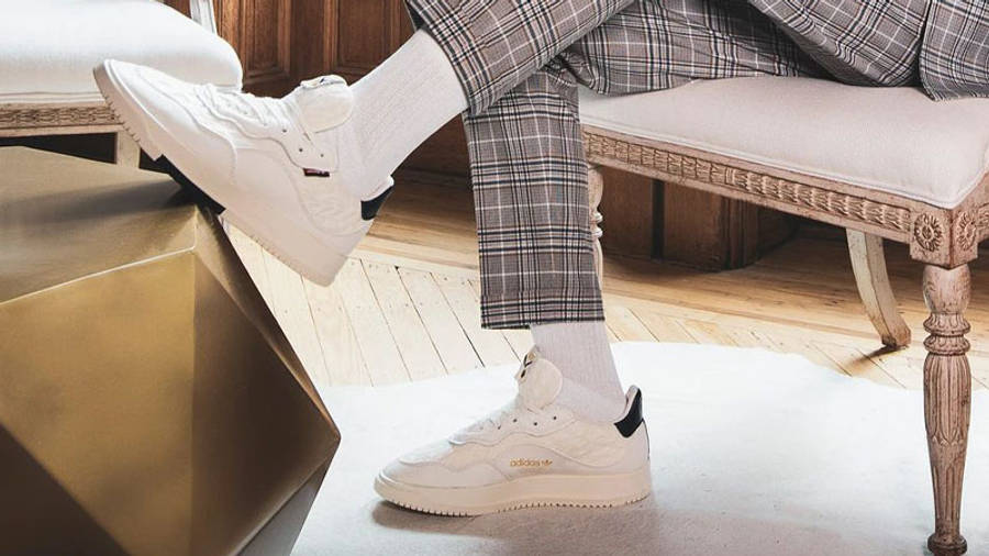 Extra Butter x adidas SC Premiere White On Foot Side