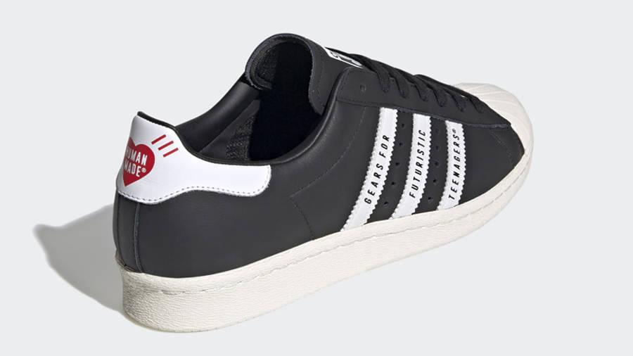 Human Made x adidas Superstar Black White Back