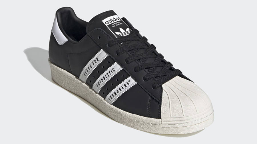 Human Made x adidas Superstar Black White Front