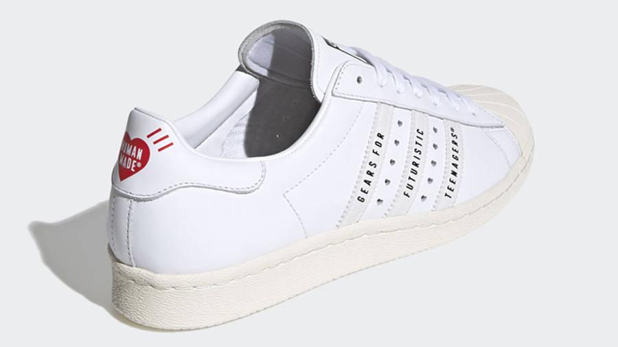 Human Made x adidas Superstar White Back