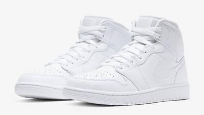 Jordan 1 Mid Triple White 554724-130 front