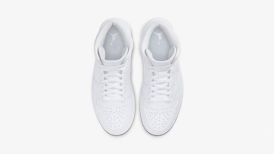 Jordan 1 Mid Triple White 554724-130 middle