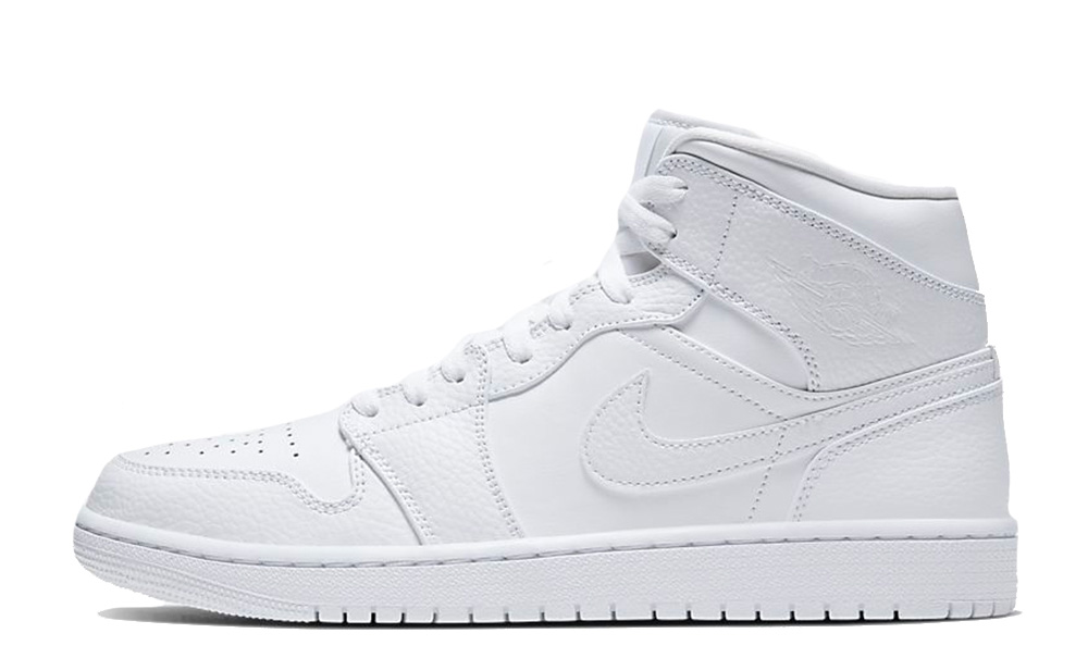 Jordan 1 Mid Triple White | Where To Buy | 554724-130 | The Sole Supplier