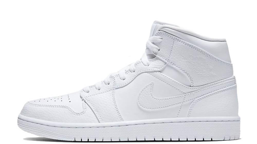 Jordan 1 Mid Triple White 554724-130
