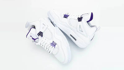 Jordan 4 Court Purple from top