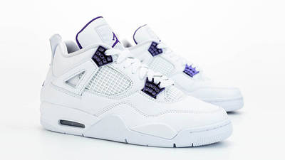 Jordan 4 Court Purple side