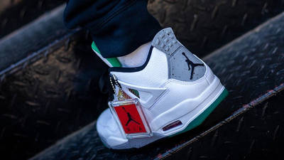 Jordan 4 Rasta AQ9129-100 on foot back