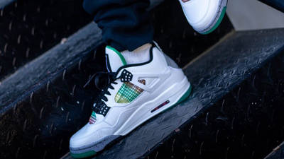Jordan 4 Rasta AQ9129-100 on foot side