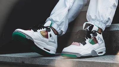 Jordan 4 Rasta On Foot