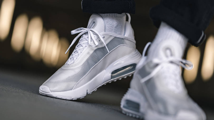 Nike Air Max 2090 White Wolf Grey On Foot Front