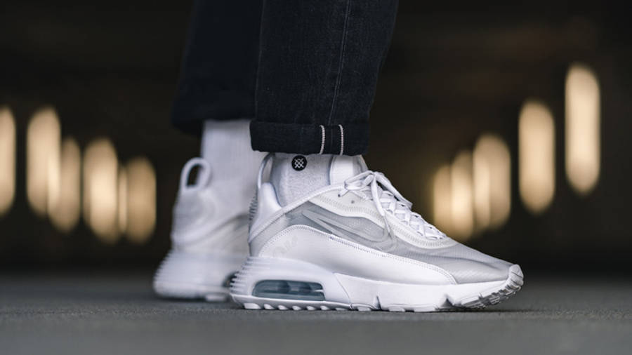 Nike Air Max 2090 White Wolf Grey On Foot